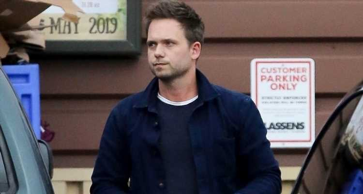 Patrick J. Adams Gets Ready for Memorial Day With Supermarket Stop