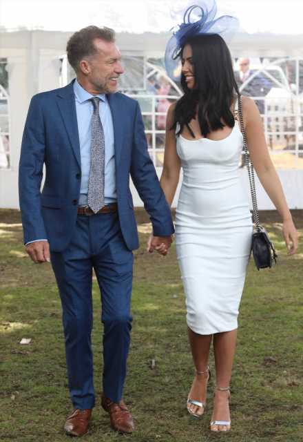 Ex-Coronation Street star Chris Quinten, 61, cosies up to stripper fiance, 21, as they dress to impress at Royal Ascot – The Sun