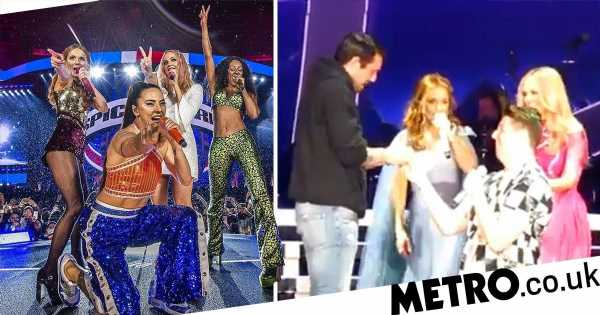 Mel B gives hilarious advice after couple get engaged at Spice Girls show
