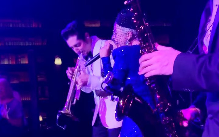 Lady GaGa Delights Jazz Fans With Impromptu Performance at Brian Newman's Show