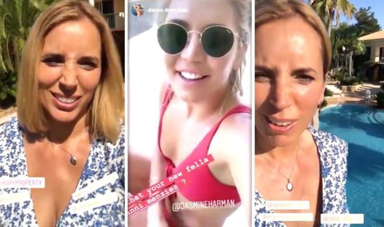 A Place In The Sun star Jasmine Harman 'compares knockers' with co-star in cheeky video