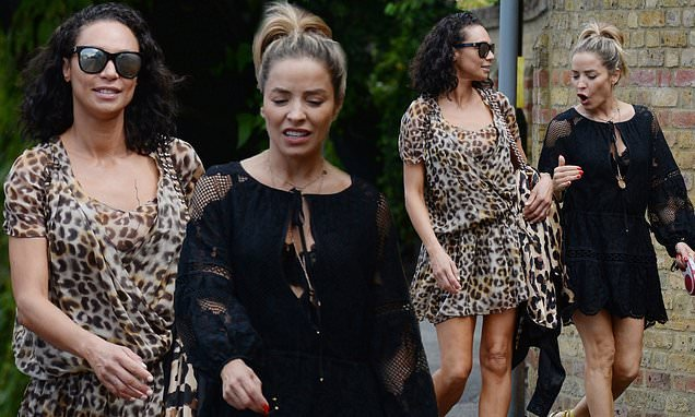 Lilly Becker and Elen Rivas don floaty mini dresses to go for a stroll