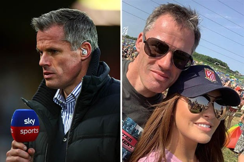 Jamie Carragher in heated spat with wife Nicola Carragher at Glastonbury festival