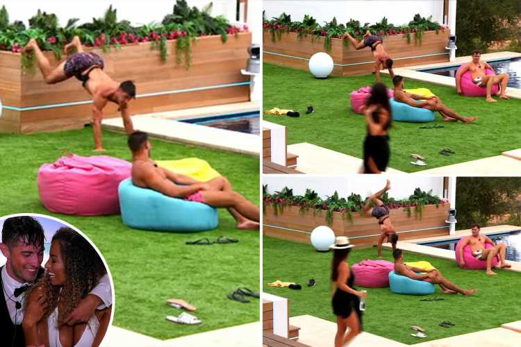 Love Island fans left swooning as Greg twerks topless by the pool