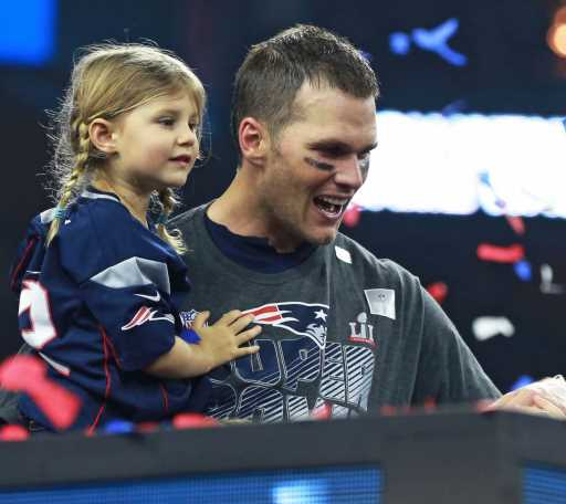Fans Are Freaking Out Over a Video of Tom Brady Jumping Off a Cliff With His 6-Year-Old Daughter