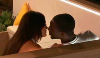 Love Island's Ovie KISSES new girl India on the terrace after stealing her from Chris