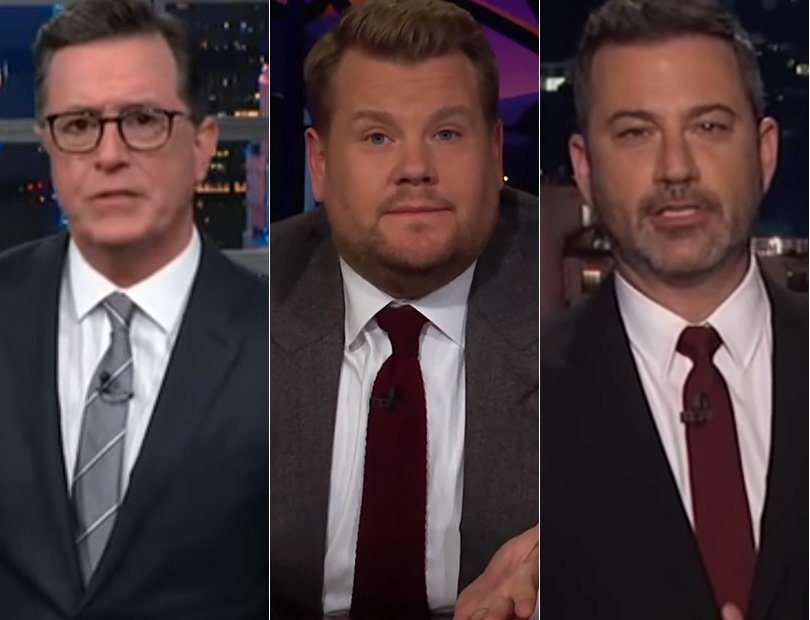 James Corden's Powerful Message Leads Late-Night TV Response to Weekend Mass Shootings