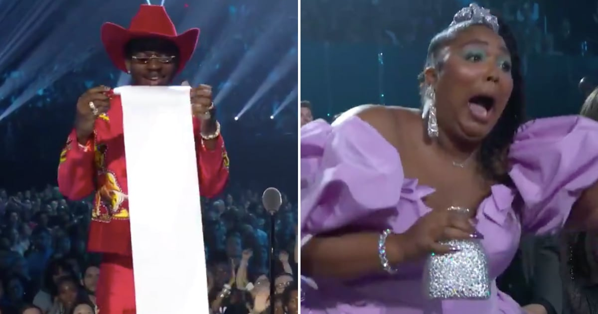 Lil Nas X Jokingly Took Out a Scroll During His VMAs Speech, and Lizzo's Reaction Was Perfect