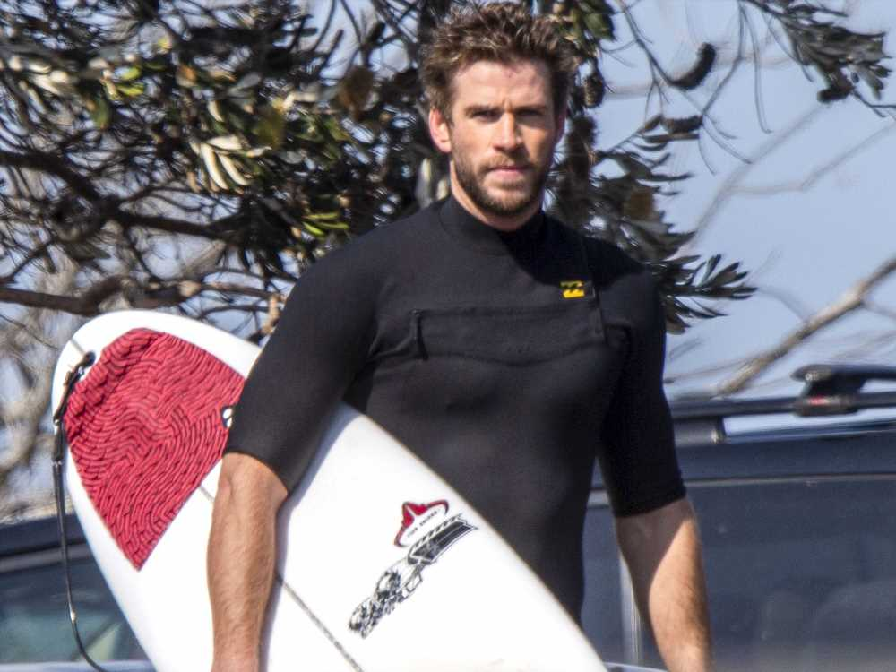 Liam Hemsworth Spotted Out Surfing in Australia for the First Time After Miley Cyrus Split
