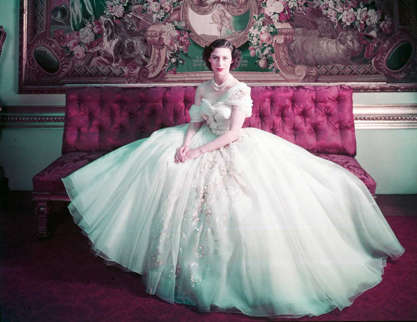 See Princess Margaret's Epic 21st Birthday Dress on the Anniversary of Her Birth