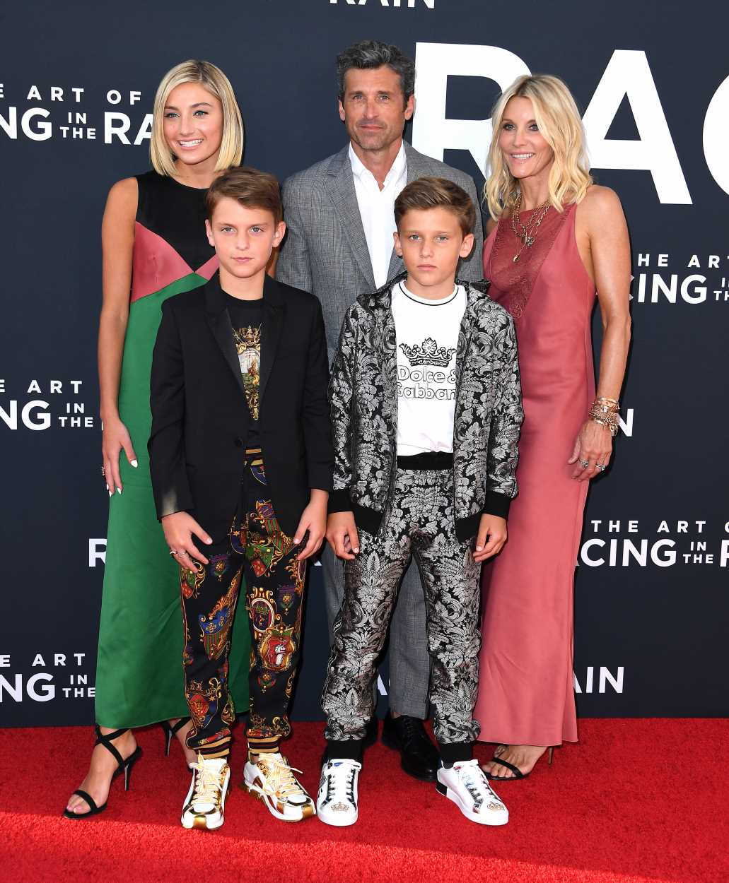 Patrick Dempsey and his gorgeous family made a rare public appearance together and we're not okay