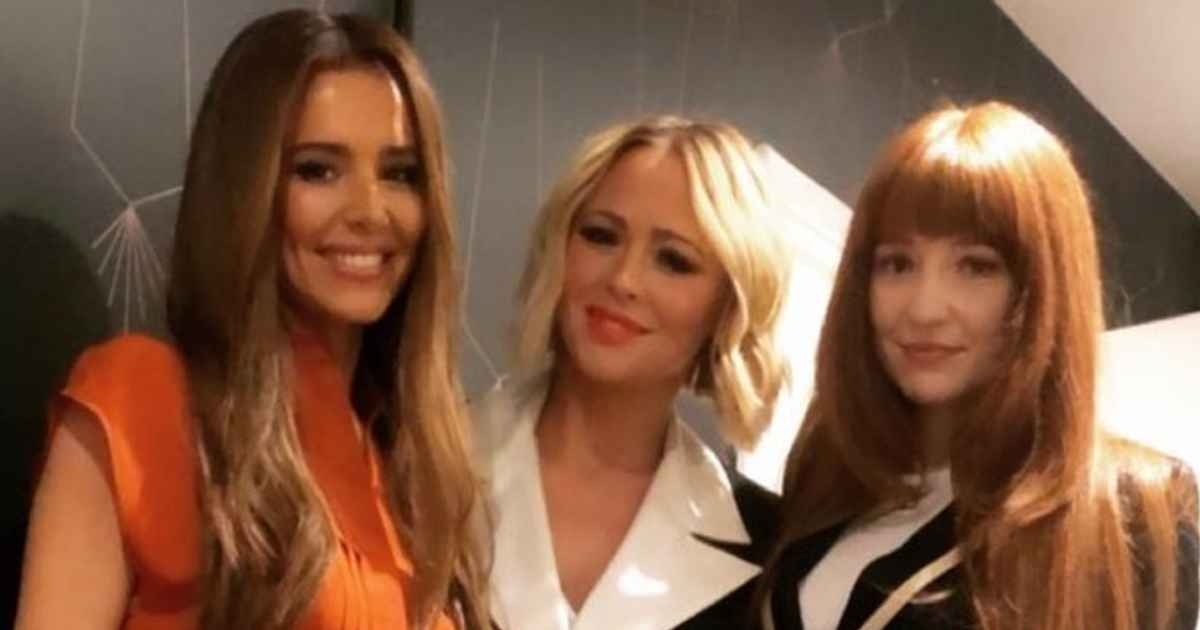 Cheryl sends fans into a frenzy as she reunites with Girls Aloud bandmates Kimberley Walsh and Nicola Roberts
