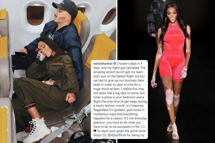 Model Winnie Harlow slammed after moaning about sitting in economy on plane
