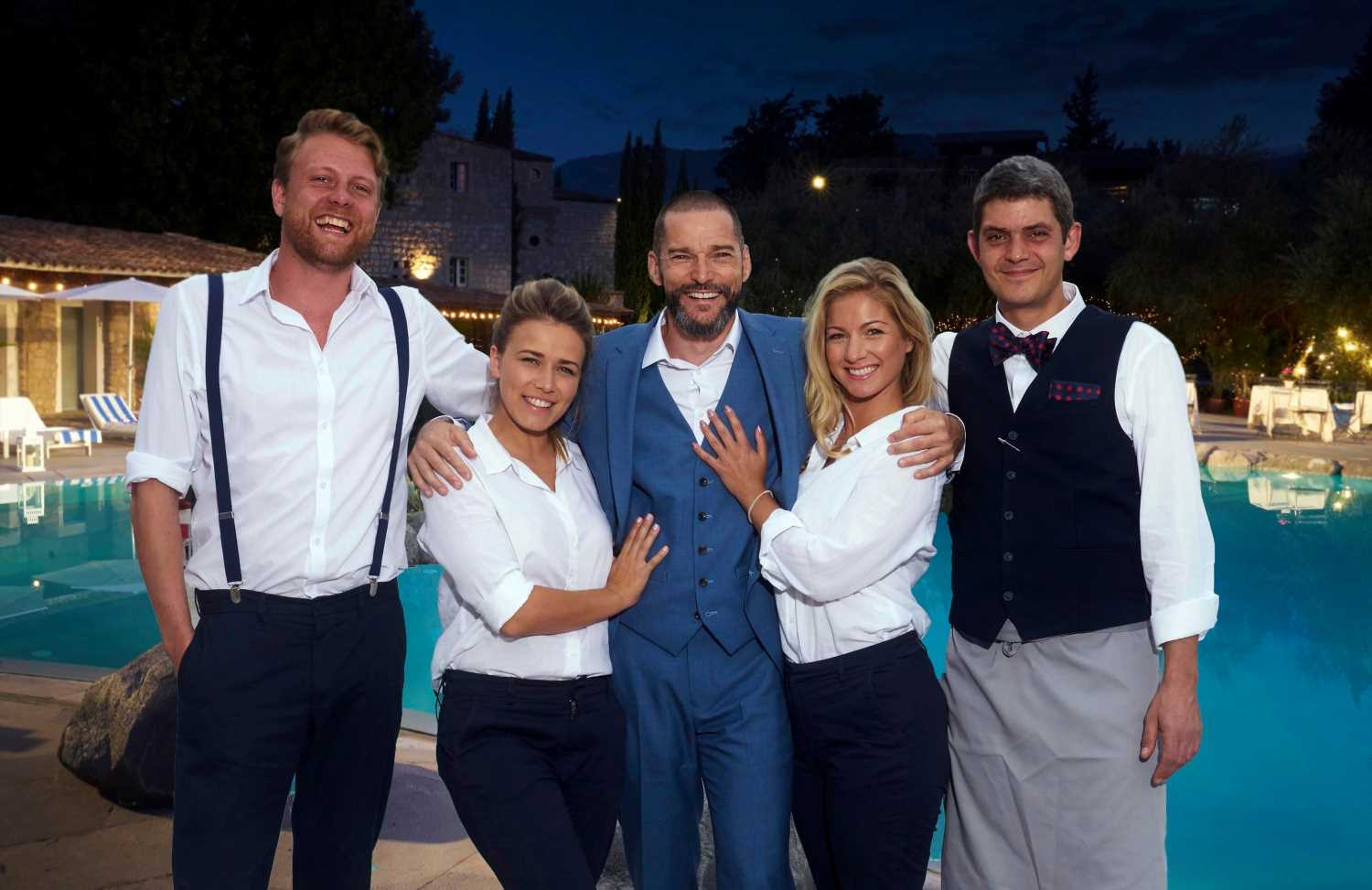 What time does First Dates Hotel start on Channel 4, who is host Fred Siriex and where is the show filmed?