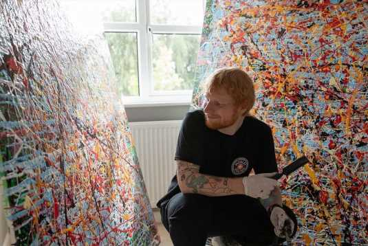 Ed Sheeran reveals huge painting that took him a MONTH as he turns artist in his time off music – The Sun