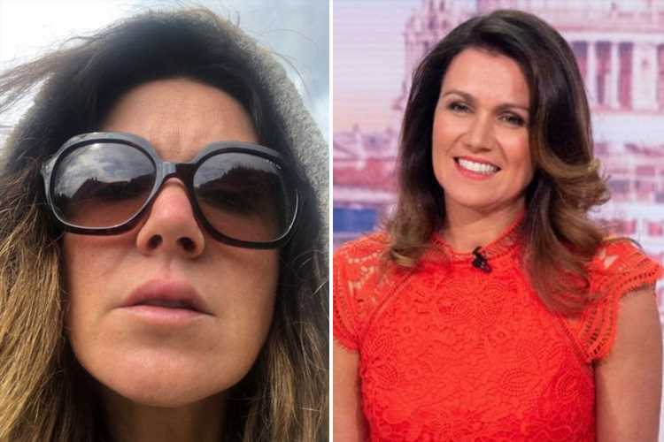 Susanna Reid reveals swollen face after almost breaking her nose by walking into a glass door on holiday