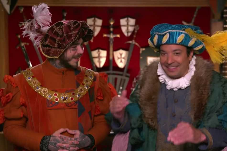 Watch Post Malone Go to Medieval Times With Jimmy Fallon