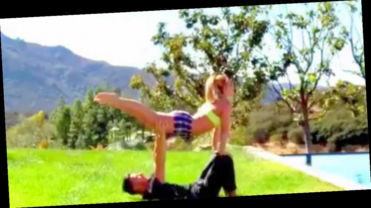 Britney Spears flaunts toned physique for garden workout with boyfriend
