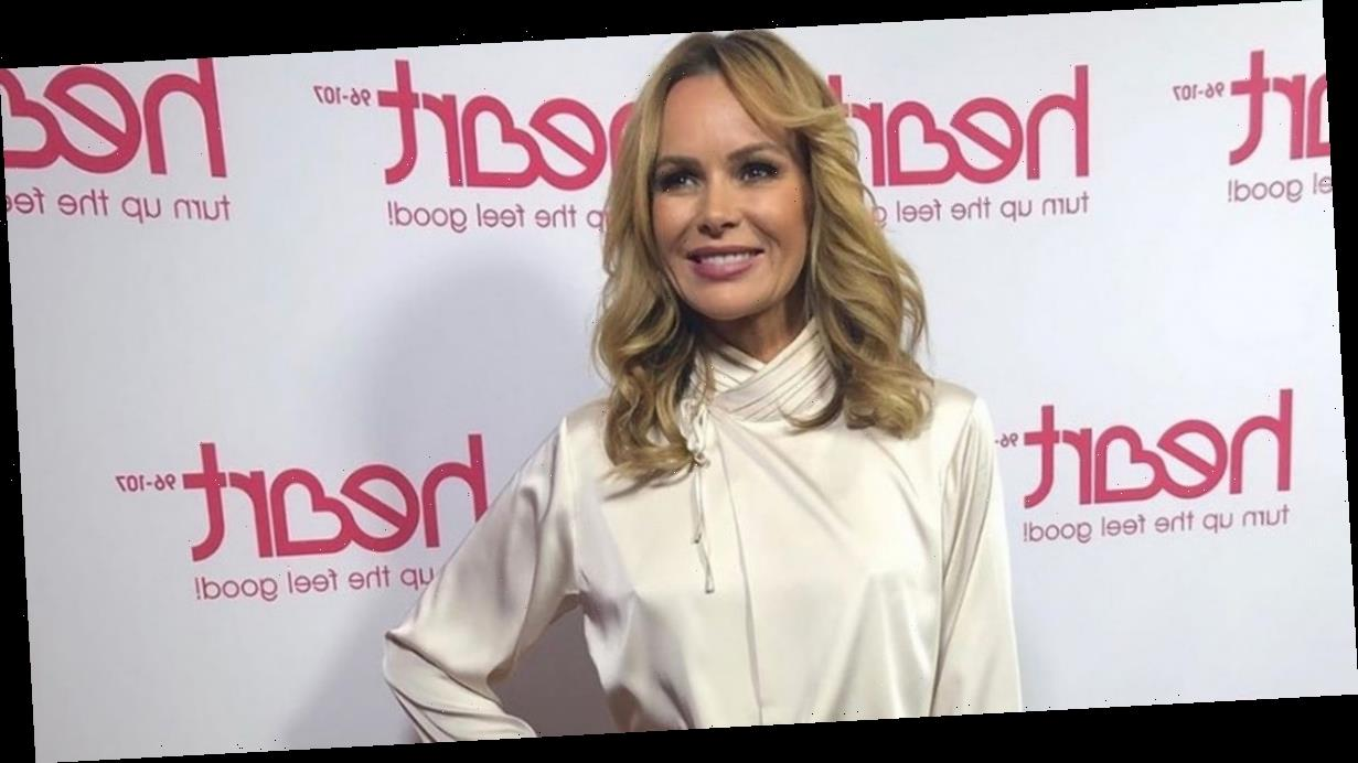 BGT babe Amanda Holden distracts fans as she 'ditches bra' under silk top