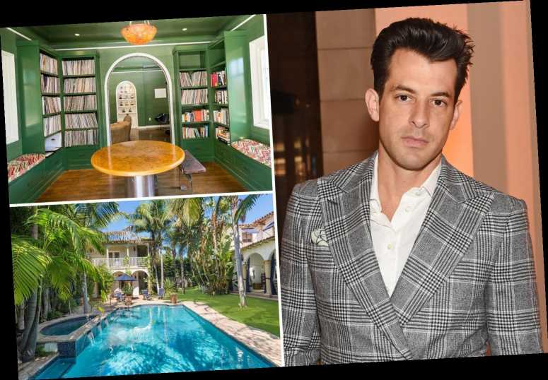 Inside Mark Ronson's hip LA home with huge swimming pool and library as he puts it on market for £4.4million