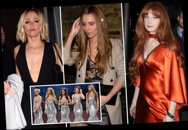 Nicola Roberts celebrates birthday with Cheryl and Kimberley Walsh but Girls Aloud's Nadine Coyle and Sarah Harding are no shows
