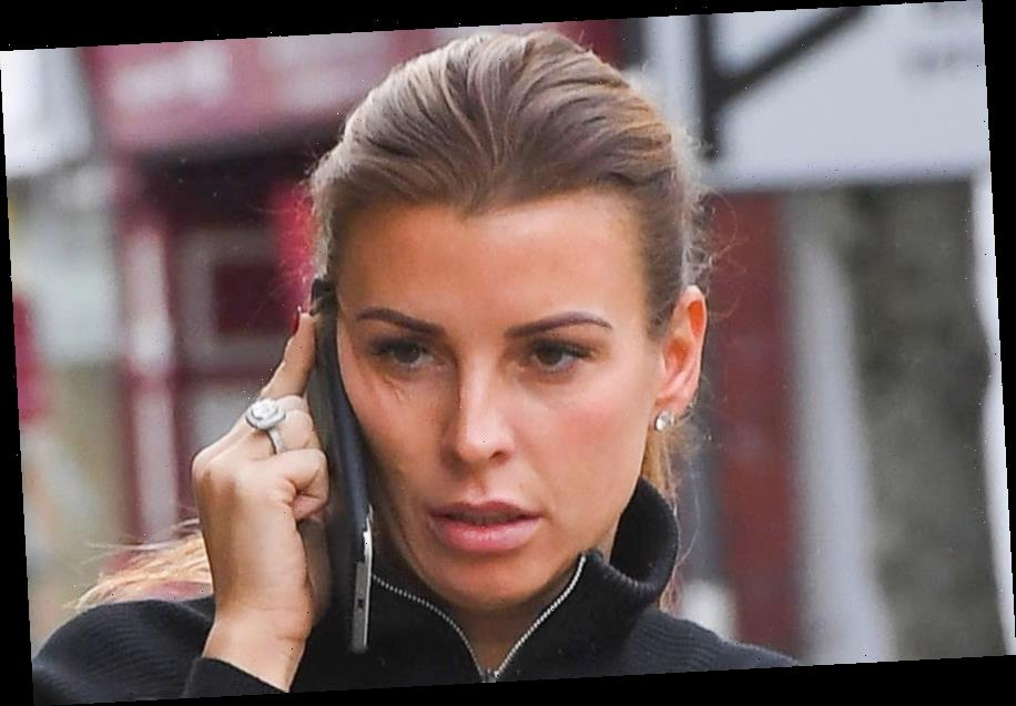 Coleen Rooney steps out in the drizzle in Cheshire as Wayne enjoys Barbados family holiday without her – The Sun