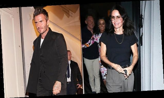 Courteney Cox, 55, Strips Down To A Bikini & Gets In A Hot Tub With David Beckham, 44 — Steamy Pics