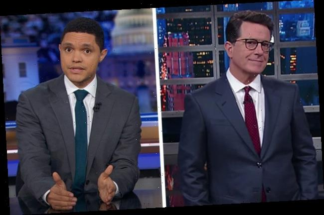 """Stephen Colbert, Trevor Noah Blast Trump For """"Bonkers"""" Refusal To Cooperate With Impeachment Inquiry"""