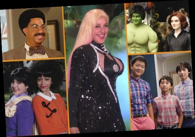 Halloween Costumes on TV: Ellen Is a Hustler, Marvel-ous Housewife, Conners See Double, GMA's Bee Gees and More