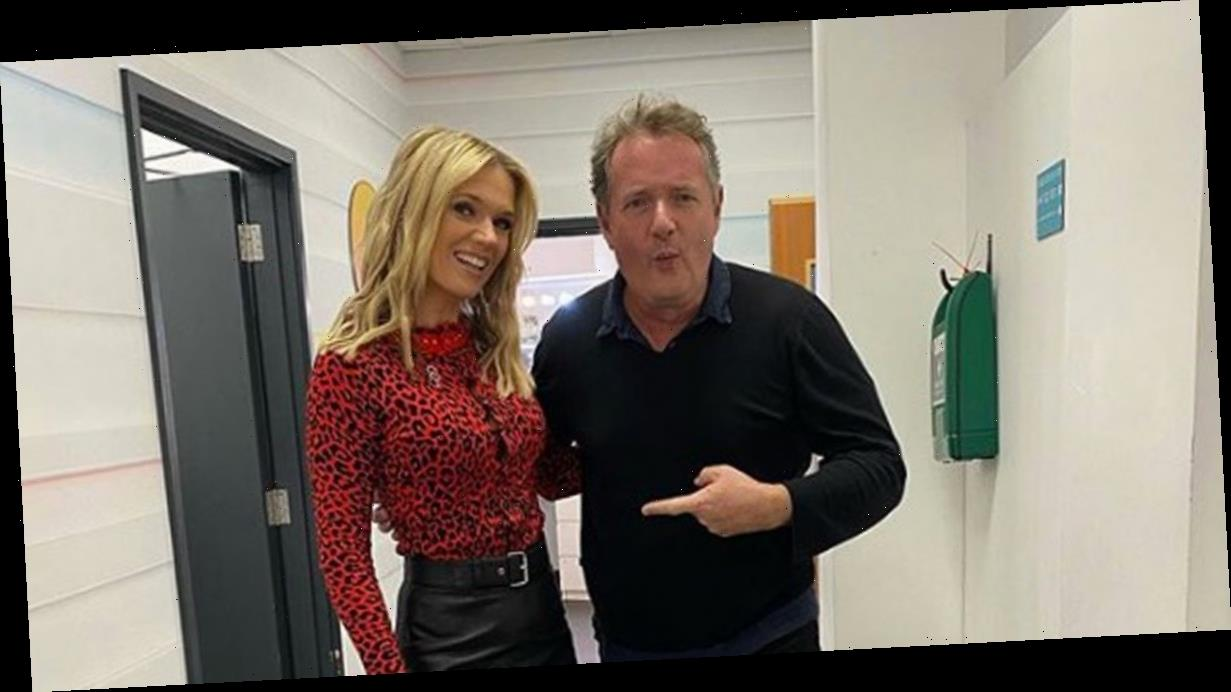 Good Morning Britain's Charlotte Hawkins sets pulses racing in leather skirt