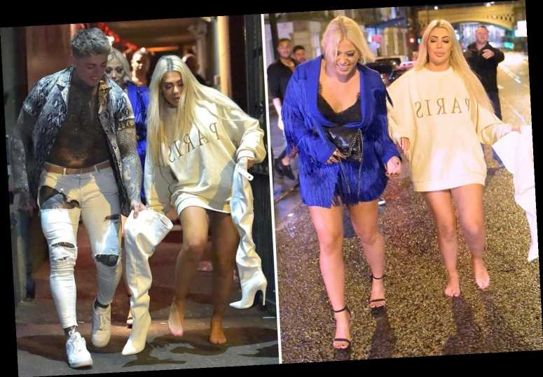 Chloe Ferry goes barefoot in the street on boozy night out with Amelia Lily – The Sun