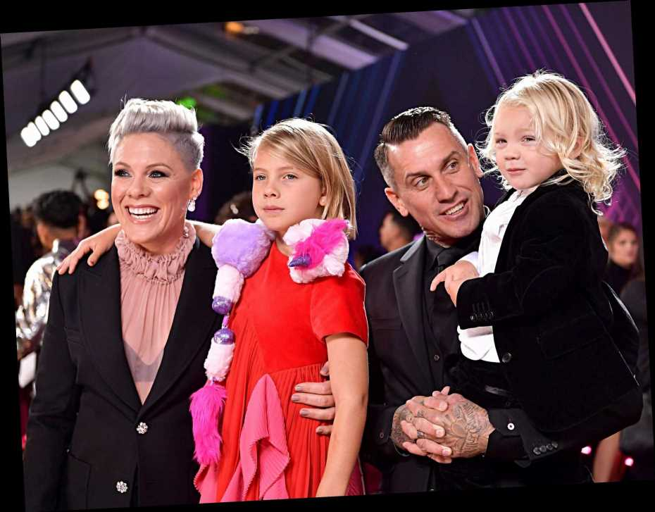 Pink steps out with her adorable kids and husband Carey Hart on the red carpet at the PCAs – The Sun