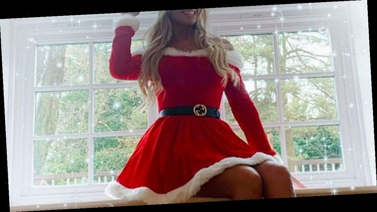 Christine McGuinness dons sexy Mrs Santa outfit for festive online tease