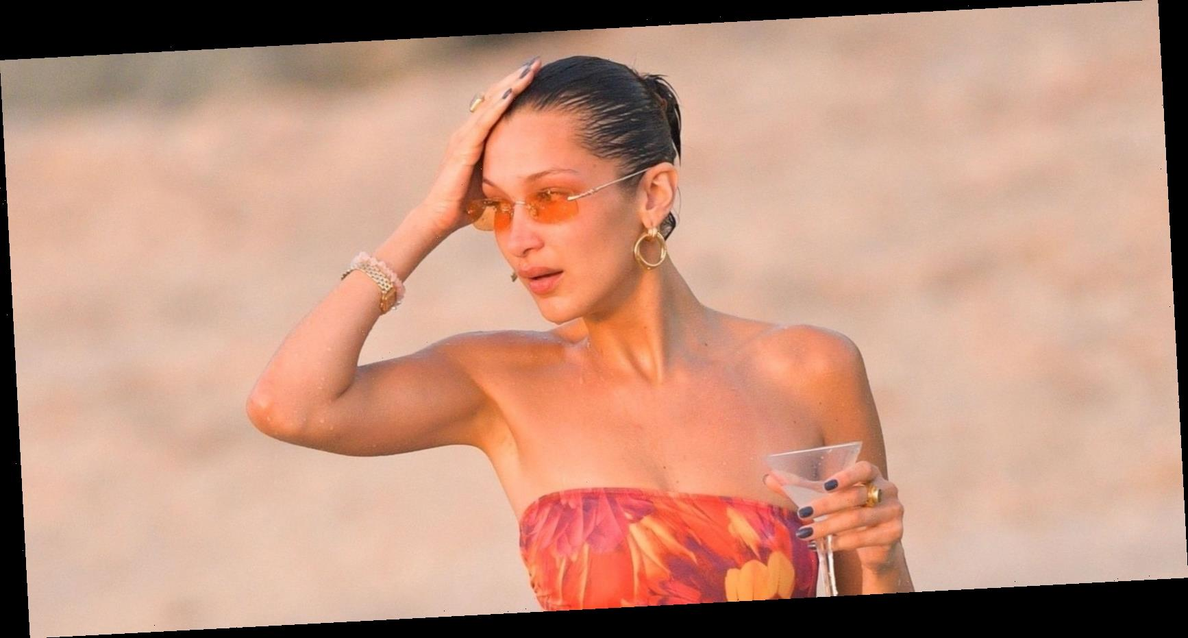 Bella Hadid Just Hit the Beach in a Seriously Revealing One-Piece Swimsuit