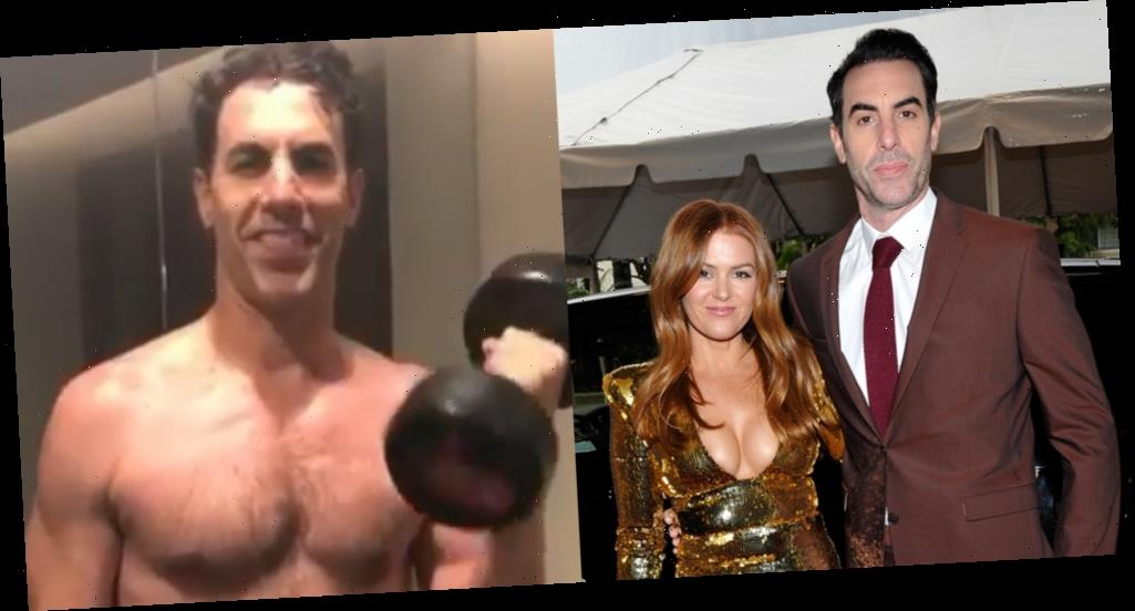 Isla Fisher Reveals Sacha Baron Cohen's Buff New Body with This Shirtless Workout Video!