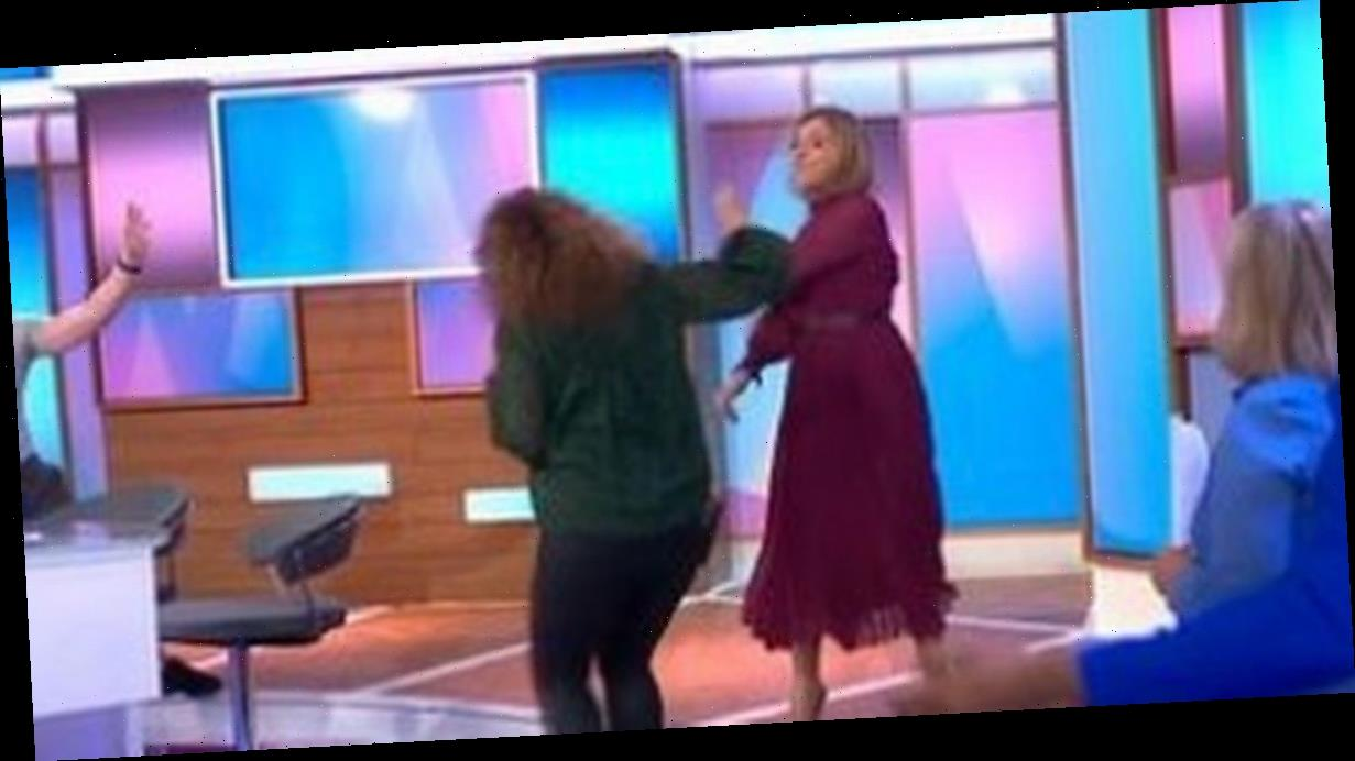 Loose Women Kaye shouts 'what the f***' at co-stars in brutal live TV gaffe