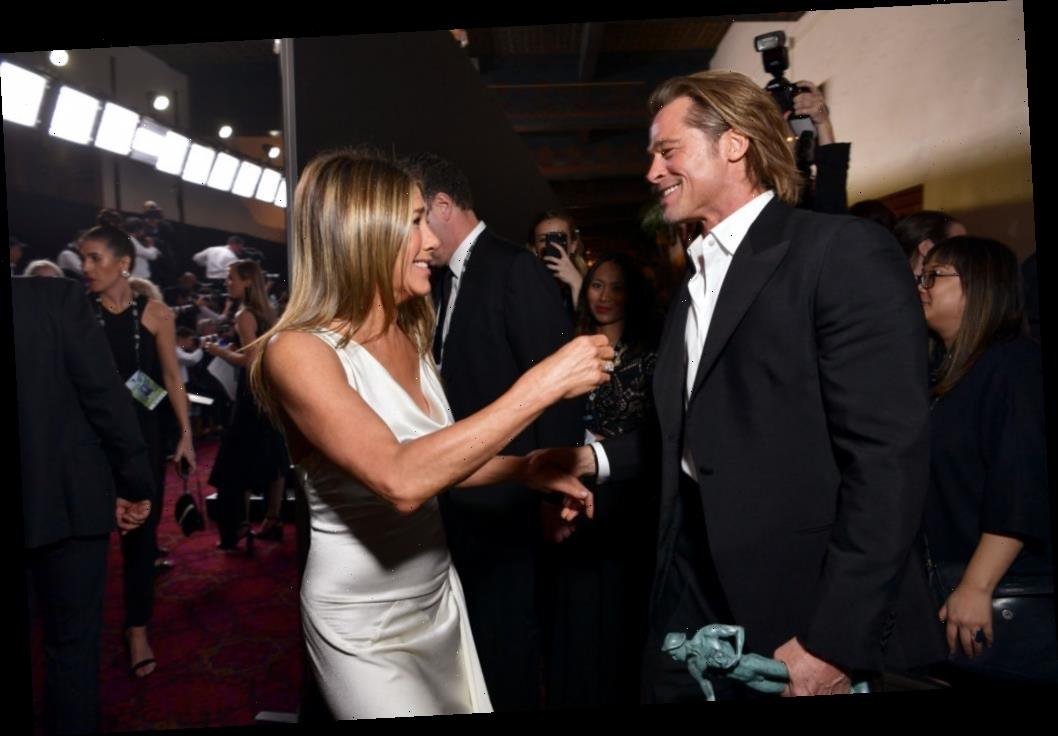 Fans Believe Jennifer Aniston Was Trying to Get Brad Pitt's Attention With Her Very Revealing SAG Awards Gown