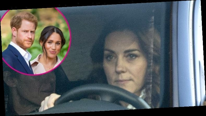 Kate Looks Somber at the Palace on Her Birthday Amid Harry and Meghan Drama