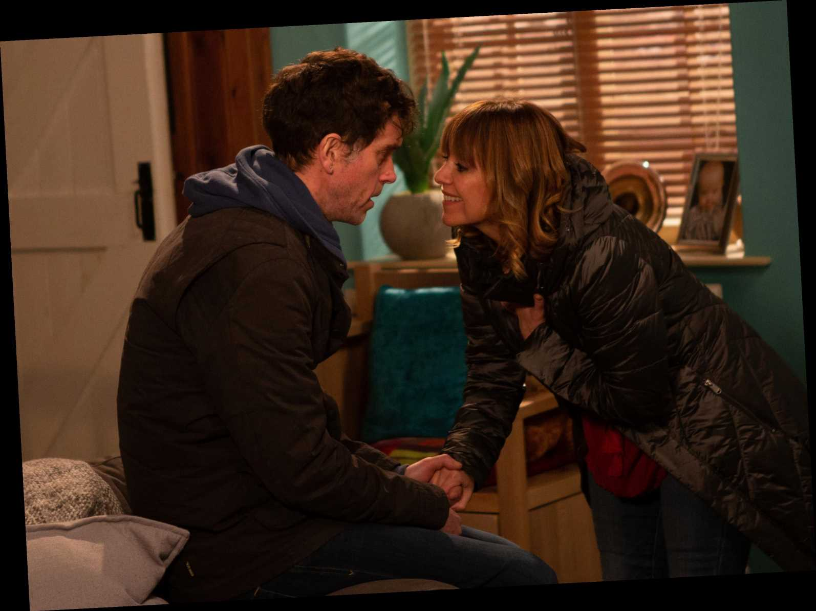 Emmerdale spoilers: Marlon Dingle kisses ex Rhona Goskirk as she plans to leaves for France with Graham Foster