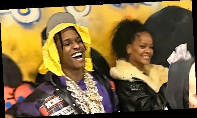 Rihanna Let's Hair Go Natural & Hangs Out With Pal A$SAP Rocky In 1st Pics After Hassan Jameel Split