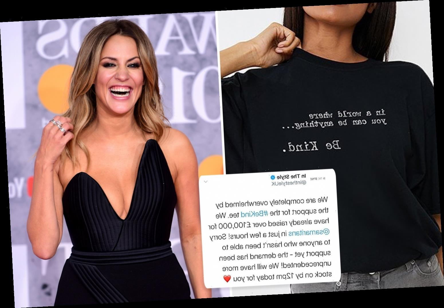 Caroline Flack-inspired T-shirt by In The Style raises £100k for Samaritans in under 24 hours – The Sun