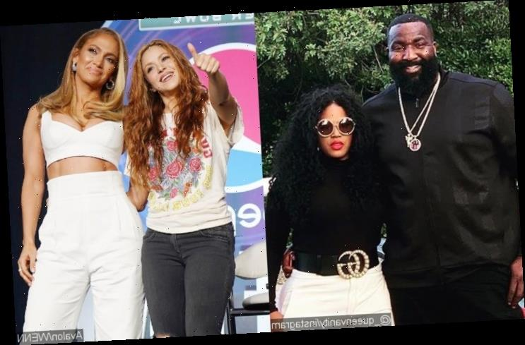 NBA Star Kendrick Perkins Gets Side-Eye From Wife for Thirsting Over Jennifer Lopez and Shakira