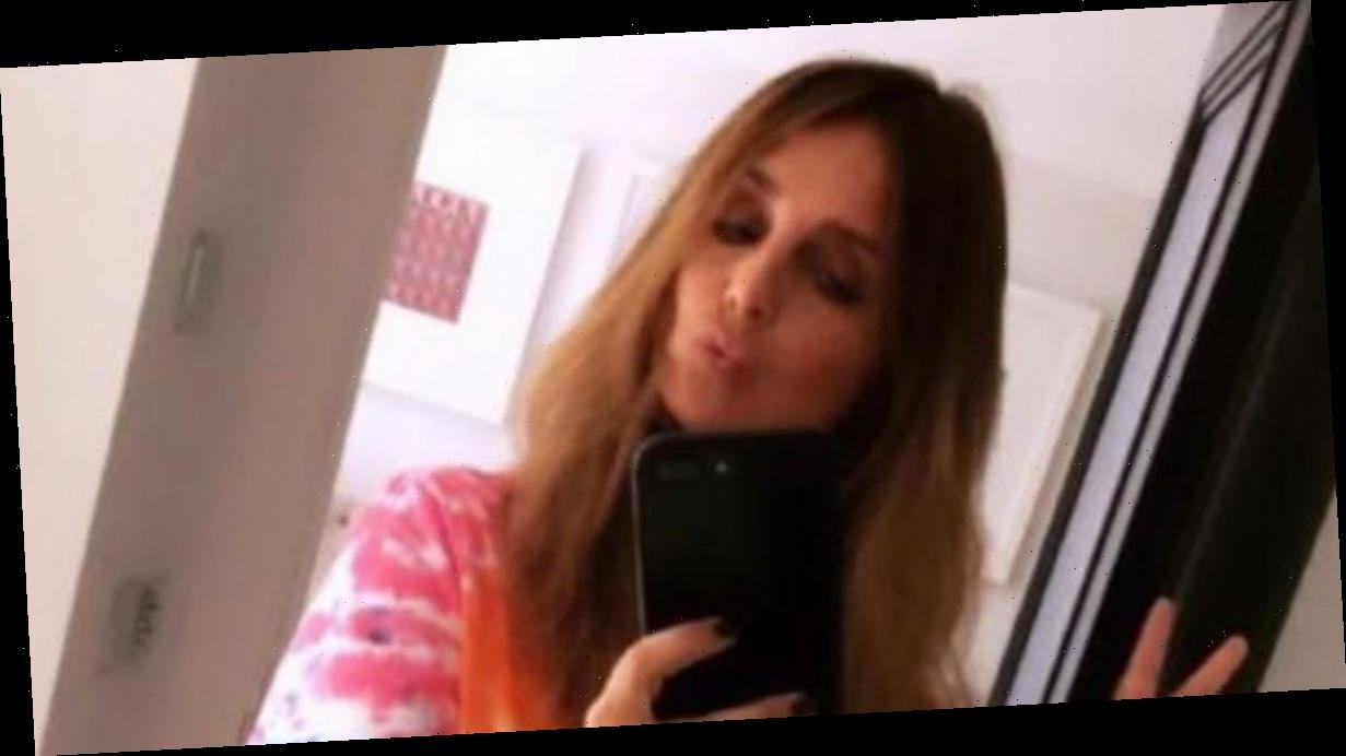 Louise Redknapp flashes her knickers in cheeky bottomless exposé