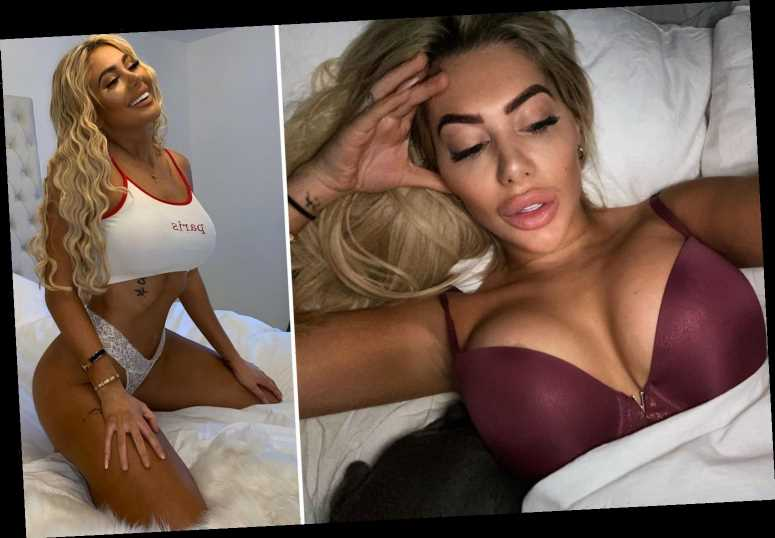 Chloe Ferry strips to her thong and straddles the bed in coronavirus lockdown