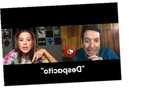 Watch Millie Bobby Brown, Jimmy Fallon Suffer Through Virtual Version of 'Whisper Challenge' (Video)