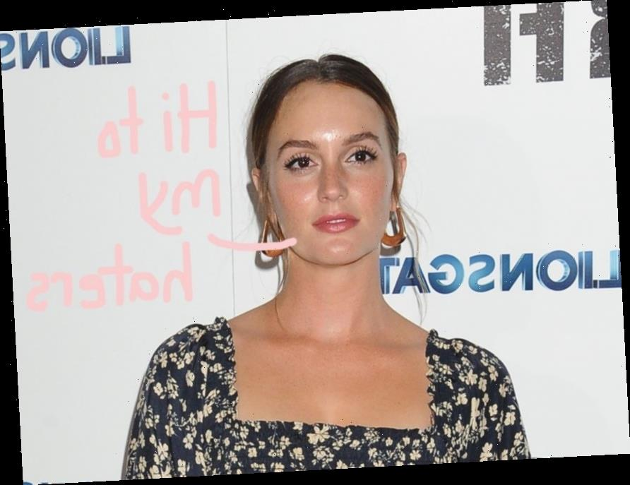 Pregnant Leighton Meester Calls Out Troll Who Says She's 'Fat': 'That's Really Nice&