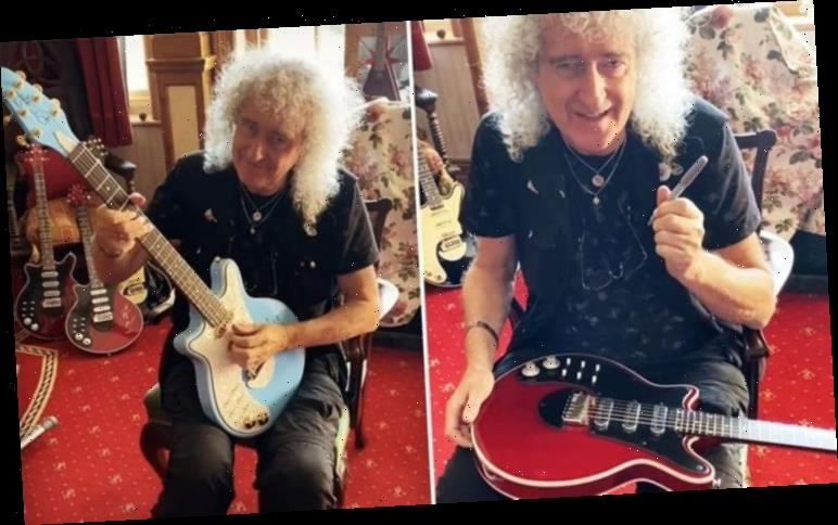 Queen's Brian May 'back to an operational state' as signs Red Special guitars – WATCH