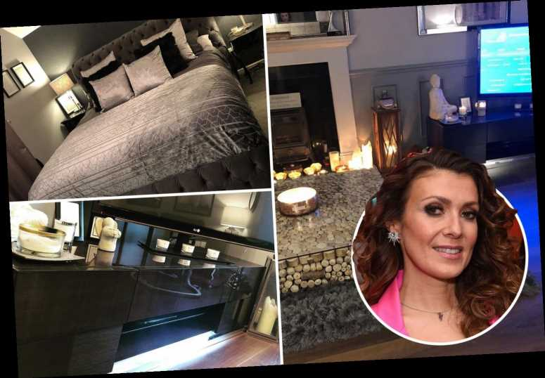 Inside Kym Marsh's amazing home with velvet interior, huge fireplace and unique pebble coffee table – The Sun