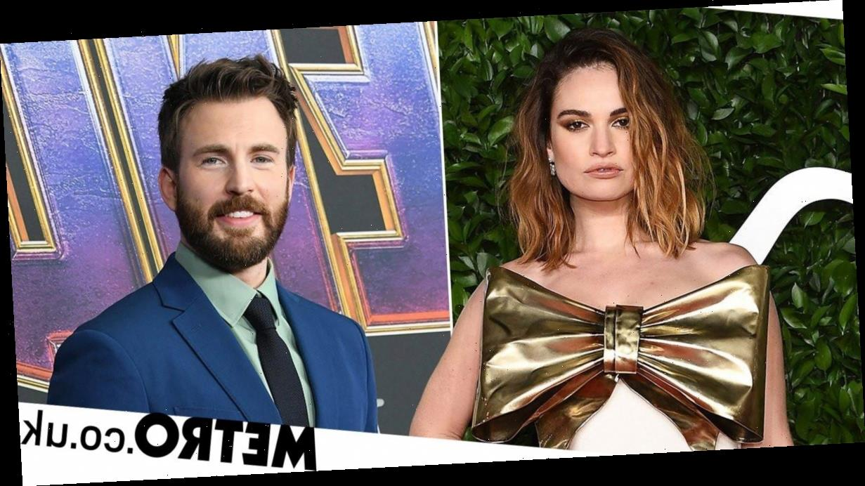 Lily James and Chris Evans spark romance rumours as they're pictured at hotel