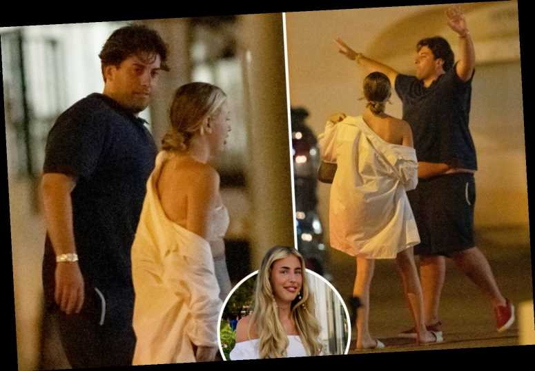 James Argent goes on a night out with ex Lydia Bright's sister in Marbella after spending the day together
